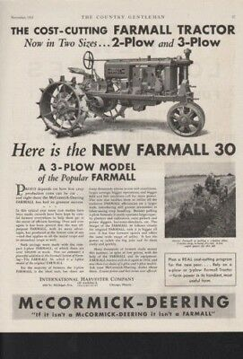 1931 International Harvester Tractor Farm Plow Ad  10359