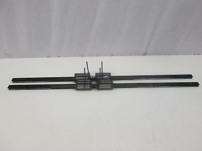 "Lot of 4 THK GSR20T 4L283, A5B16 182 Bearings w/ 35"" CNC Linear Slide Rails"