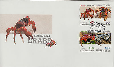 Christmas Island  2011 CRABS First Day cover
