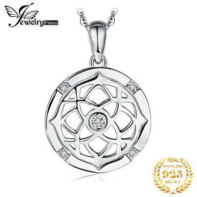 JewelryPalace Flora Irish Celtic Knot Cubic Zirconia Pendant 925 Sterling Silver