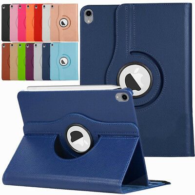 For Apple iPad Pro 11 / 12.9 3rd Gen 2018 360 Rotating Leather Smart Case Cover