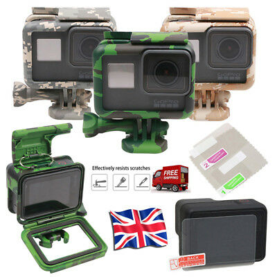 For GoPro HERO 7 6 5 Black Protective Cover Case Mount Screen Hard Film Camou UK