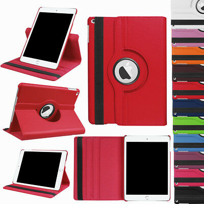 360 Rotating Leather Magnetic Flip Stand Case Cover For iPad 9.7 2018 6th Gen