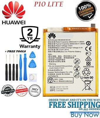 BRAND New Battery Fits For HUAWEI P10 lite HB366481ECW 3000mAh + FREE TOOLS