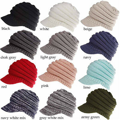 Beanie Tail Messy High Bun Ponytail Hat Cotton Blend Beanie Cap Hole Women Girls