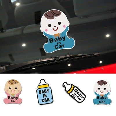 """Self Adhesive Car Sticker """" BABY IN CAR"""" Pattern Safety Warning Stickers 1PC"""