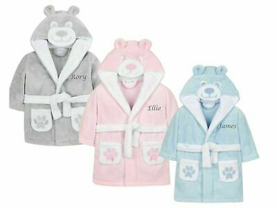 Baby Dressing Gown Blue Or Pink 0-6 Months Great Gift For Any Occasion