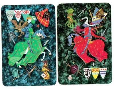 1 SINGLE SWAP Playing Card KNIGHT IN ARMOR REVERSABLE HEAD