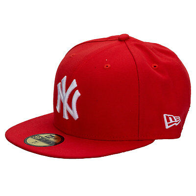 New Era Mens New York Yankees 59Fifty Cap In Red - NY Yankees Logo To Front