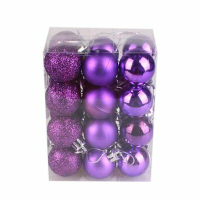 Sumen Xmas Ball Ornaments 24-Pack 30mm Christmas Tree Ball Bauble Hanging Home P