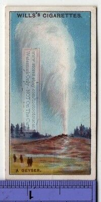 Geyser Hot Water Discharge Steam 90+  Y/O Ad Trade Card