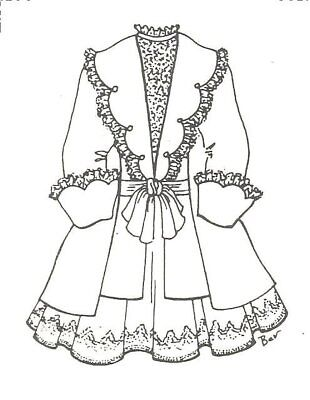 modern 1970 now clothing patterns patterns doll making repair 60 Inch Curtains jacket coat dress sewing pattern fits 17 18 doll outfit antique