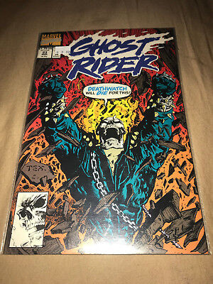Ghost Rider #23 March 1992 Deatwatch Will Die For This Marvel Comics Comic Book