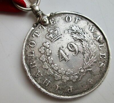 Medal- Army Temperance Society 49th Regiment of Foot Hertfordshire dated 1837