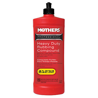 Mothers Polish 81232 32 Oz Bottle of Professional Heavy Duty Rubbing Compound
