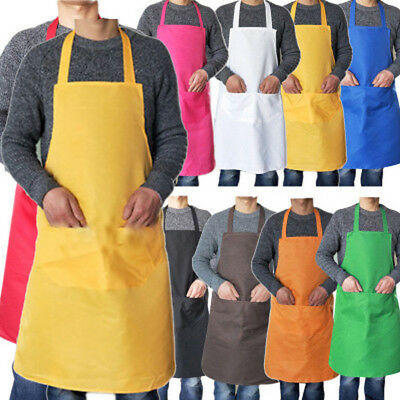 Fashion Men Women Cooking Kitchen Restaurant Chef Bib Apron Dress with Pocket