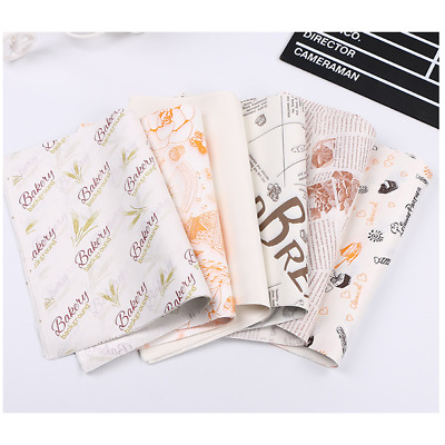 Decorate Wrapping Oil-proof Food Bag Hamburger Packging Wax Paper Greaseproof