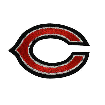 """NFL Chicago Bears Logo  DIY embroidered iron on patch cloth 3.15""""X2.17"""""""