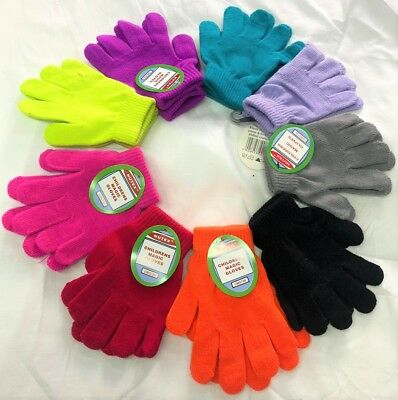Children Magic Gloves Soft Winter Boys Girls Kids School Full Finger Gloves 720