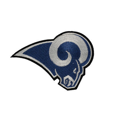 """NFL LOS ANGELES RAMS Logo  DIY embroidered iron on patch cloth 3.15""""X2.44"""""""