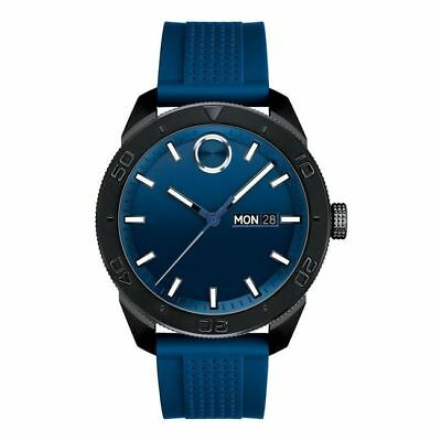 New Movado Bold Blue Dial Blue Rubber Men's Watch 3600459