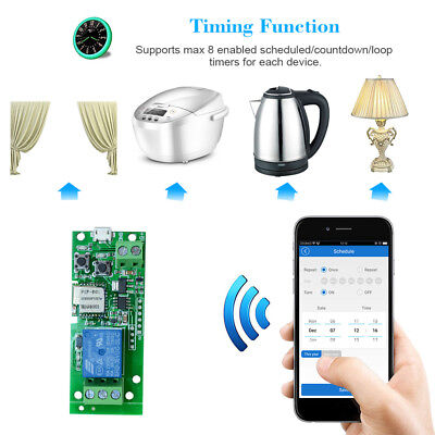 1CH DC5V SONOFF WiFi Switch Wireless Inching Self-Locking Smart Relay Module Str