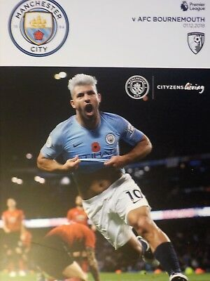 MANCHESTER CITY v AFC BOURNEMOUTH,2018/19 Season.Premier League -FREE UK Postage