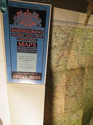 Hertford & Buckingham-Bartholomew Special Map:cycle Tour 1960: Raf Fields Appear