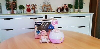 Chicco First Dreams Spieluhr ☆ Sternenhimmel Projektor ☆ Rosa incl. Figur in OVP