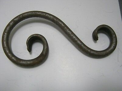 "Hand Forged Wrought Iron 8"" S Hook USA Made Great for Pots, Plants, or Camping"