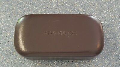 Louis Vuitton Brown Sunglasses Hard Clam Case Only Large