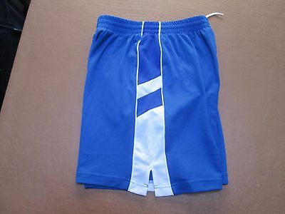 Fine lined blue soccer shorts by Finale, size Medium