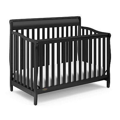 Graco Stanton Durable 4 in 1 Convertible Baby Toddler Child Crib Daybed, Black