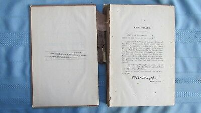 1897 Colorado General Assembly State Laws Hard Cover Book-Railroads-Coal Mines