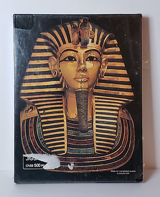 SPRINGBOK Tutankhamun jigsaw puzzle - 1977 SEALED / NEW (King Tut mask) PZL4087
