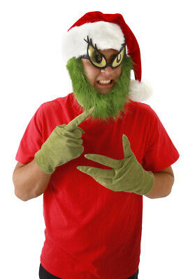 Dr Seuss Grinch Who Stole Christmas Costume Adult Gloves Licensed Elope New