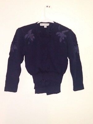 ST JOHN Collection by Marie Gray! 2 pc Purple Flower Hand Knitted Jacket