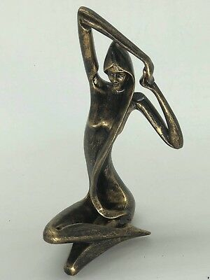 Hand Made Abstract Modern Art Big Head Female Bust Bronze Sculpture Sale