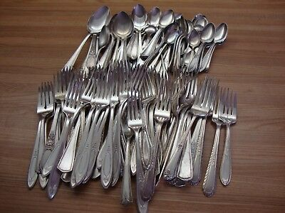 Silverplate Dinner Forks,spoons Lot Of 100 Craft Vintage Dinner Spoons Flatware