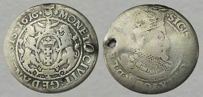 ☆ 400 YEAR OLD !! ☆ SILVER Colonial Coin dated 1616 ☆