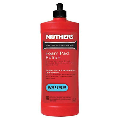 Mothers Polish 83432 32 Oz Bottle of Professional Foam Pad Polish for Exteriors