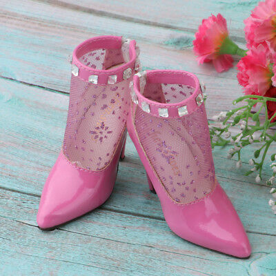 1//3 BJD Doll Pointed Toe High Heels Ankle Boots for Supper Dollfie Shoes #1