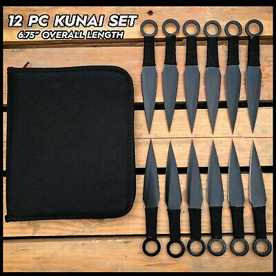 "6PC SET 5.5"" Naruto Kunai HUNTING Throwing Knives Ninja Knife Dagger + SHEATH"