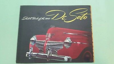1941 DeSoto sketch book brochure