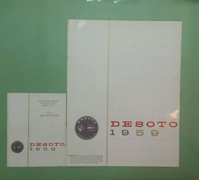 1959 DeSoto deluxe brochure with small version