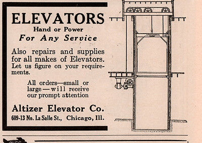 1915 C Ad Altizer Elevator Co Hand Or Power
