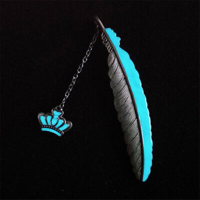 Grown Feather Noctilucent Read Bookmark Book File Marker Office Supplies S