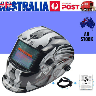 Solar Powered Auto-Darkening Welding Helmet Grinding Welder Breathable Mask VIC