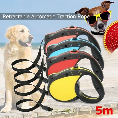 16.5FT Pet Dog Cat Automatic Retractable Traction Rope Walking Lead Leash Safety