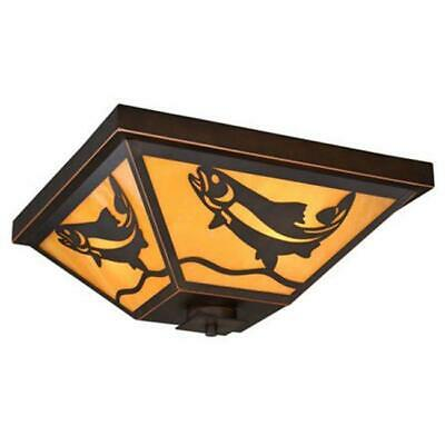 Vaxcel International 3 Light Missoula Outdoor Flush Mount - Burnished Bronze